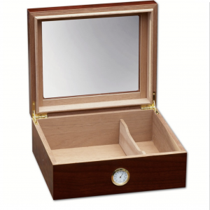 Glass Top Cherry Finish Humidor